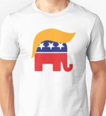 Donald Trump Hair GOP Elephant Logo ©TrumpCentral.org Unisex T-Shirt