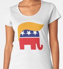 Donald Trump Hair GOP Elephant Logo ©TrumpCentral.org Women's Premium T-Shirt