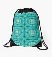 motion colorful color wave smoke seamless repeat pattern Drawstring Bag