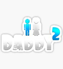 Daddy of 2 Father's Day Gift Sticker