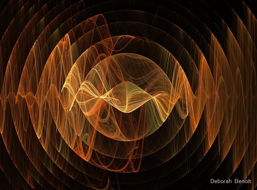 Quot Orange Sound Waves Quot By Deborah Benoit Redbubble