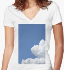 Puffs Women's Fitted V-Neck T-Shirt