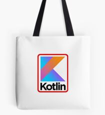 Kotlin Retro Design Tote Bag