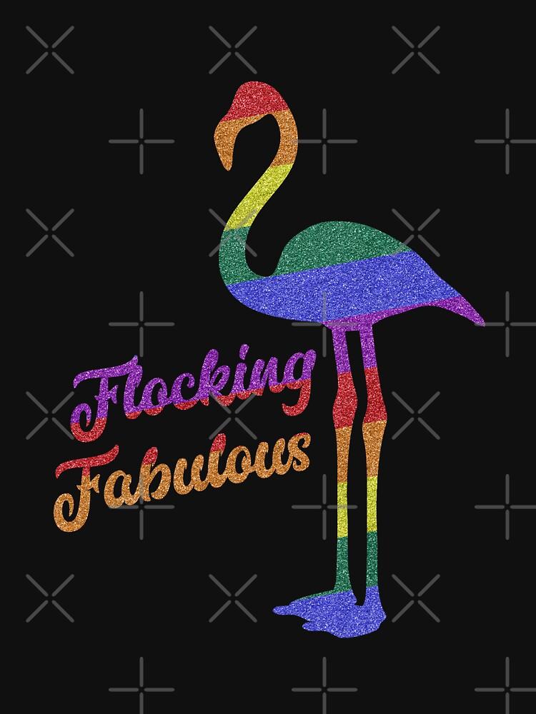 """Rainbow flamingo Flocking Fabulous LGBT pride colors ..."