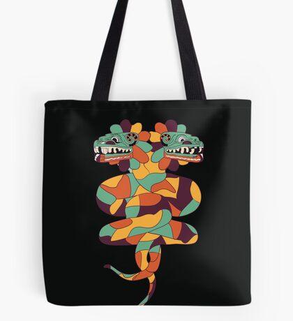 Quetzalcoatl Double Dragon Tote Bag