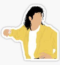 Michael Jackson yellow shirt Sticker