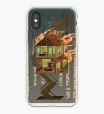 Vinilo o funda para iPhone Casa en llamas