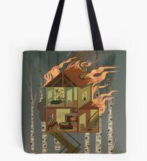 Bolsa de tela Casa en llamas