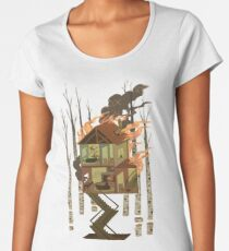 Camiseta premium para mujer Casa en llamas