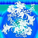 Blue Moon Green Leaves by PolkaDotStudio
