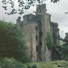 Invergary Castle ruined 1746 by butcher Cumberland, Loch Oich Caledonian Canal Scotland 19840914 0025  by Fred Mitchell