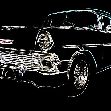 Neon 1956 Chevrolet by lilypad-au