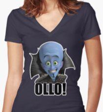 Megamind - Will Ferrell - Ollo! Hello! Women's Fitted V-Neck T-Shirt