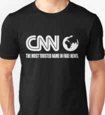 CNN Fake News Network Funny Tabloid Lying Corrupt Liberal Media Trump Unisex T-Shirt