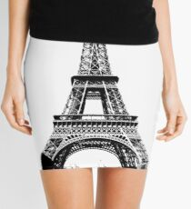 Eiffel Tower Digital Engraving Mini Skirt