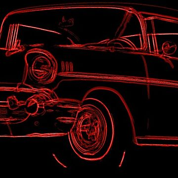 1957 Chevrolet BelAir Sketch Red by lilypad-au