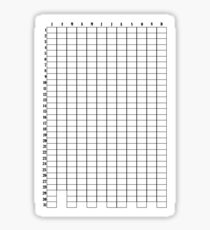 Year Calendar - Bullet Journal Sticker
