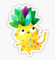 Chat d'ananas Sticker