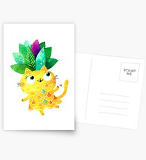 Pineapple cat Postcards