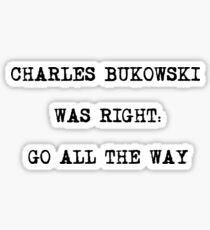 Poet Charles Bukowski Stickers Redbubble