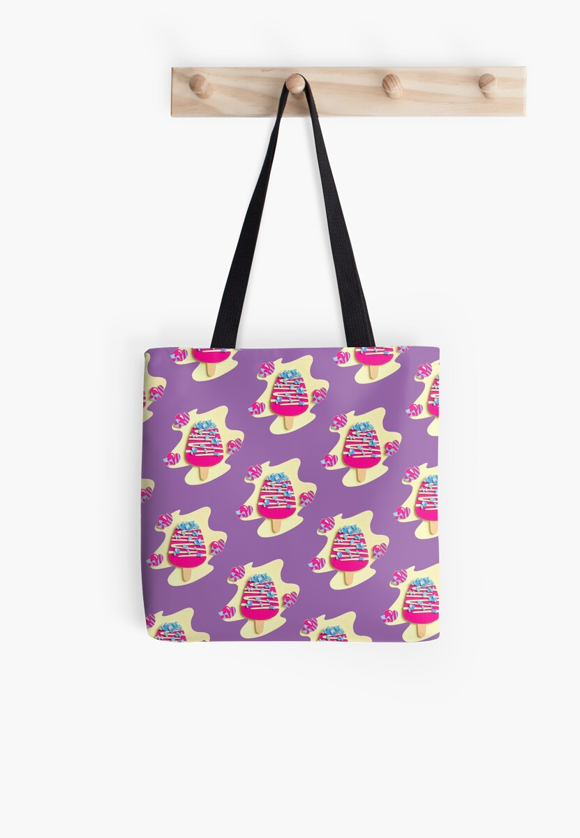 Pink popsicle pattern by ColouredPaperS