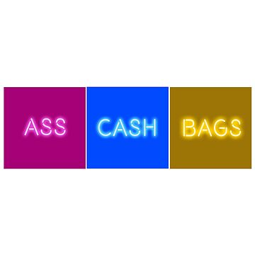 IGGY AZALEA ASS CASH BAGS HORIZONTAL by ceplasee