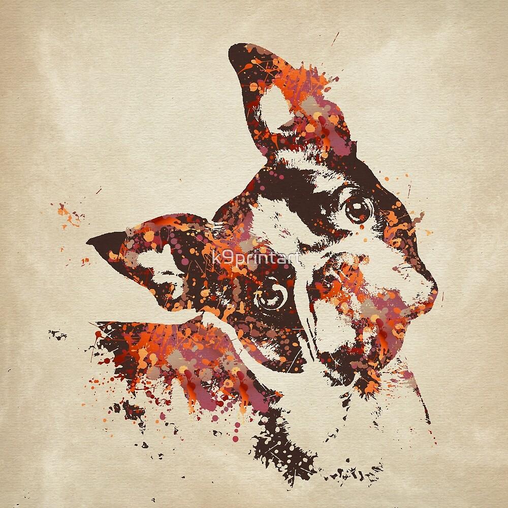 Boston Terrier by k9printart