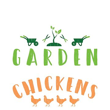 Garden hangout chickens T-shirt by Diana-rose