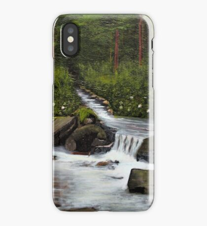 STREAMS OF LIVING WATER, Acrylic Painting, for prints and products iPhone Case