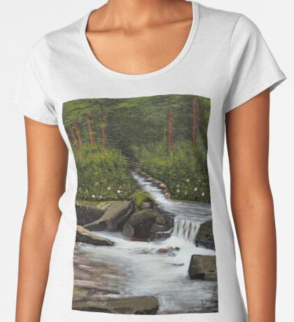STREAMS OF LIVING WATER, Acrylic Painting, for prints and products Women's Premium T-Shirt