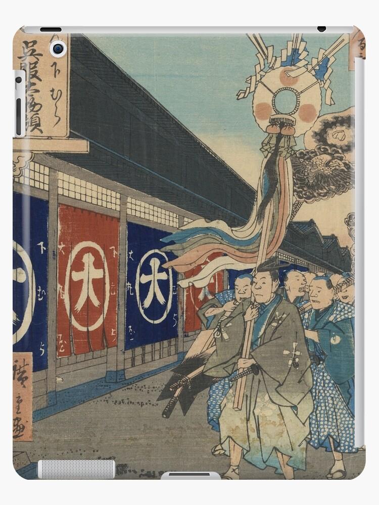 Silk-goods Lane - Hiroshige Ando - 1858 by CrankyOldDude