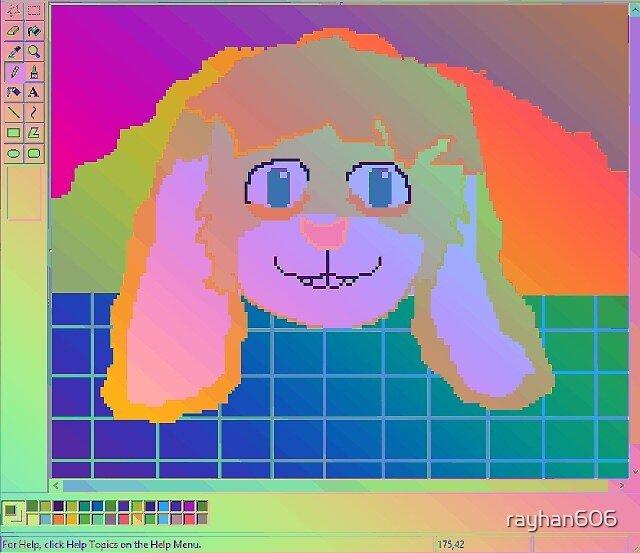 Rainbow Ray Bunny Aesthetic by rayhan606