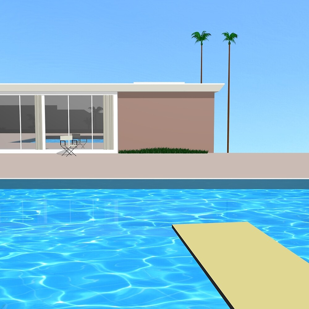 David Hockney - A bigger splash without splash (3d Reconstruction) by crook-factory