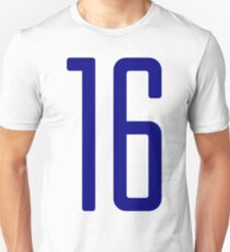 Tall blue number 16 Unisex T-Shirt