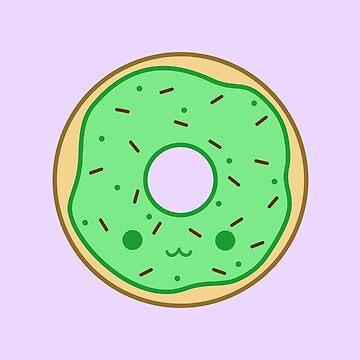 Yummy kawaii brown doughnut by peppermintpopuk