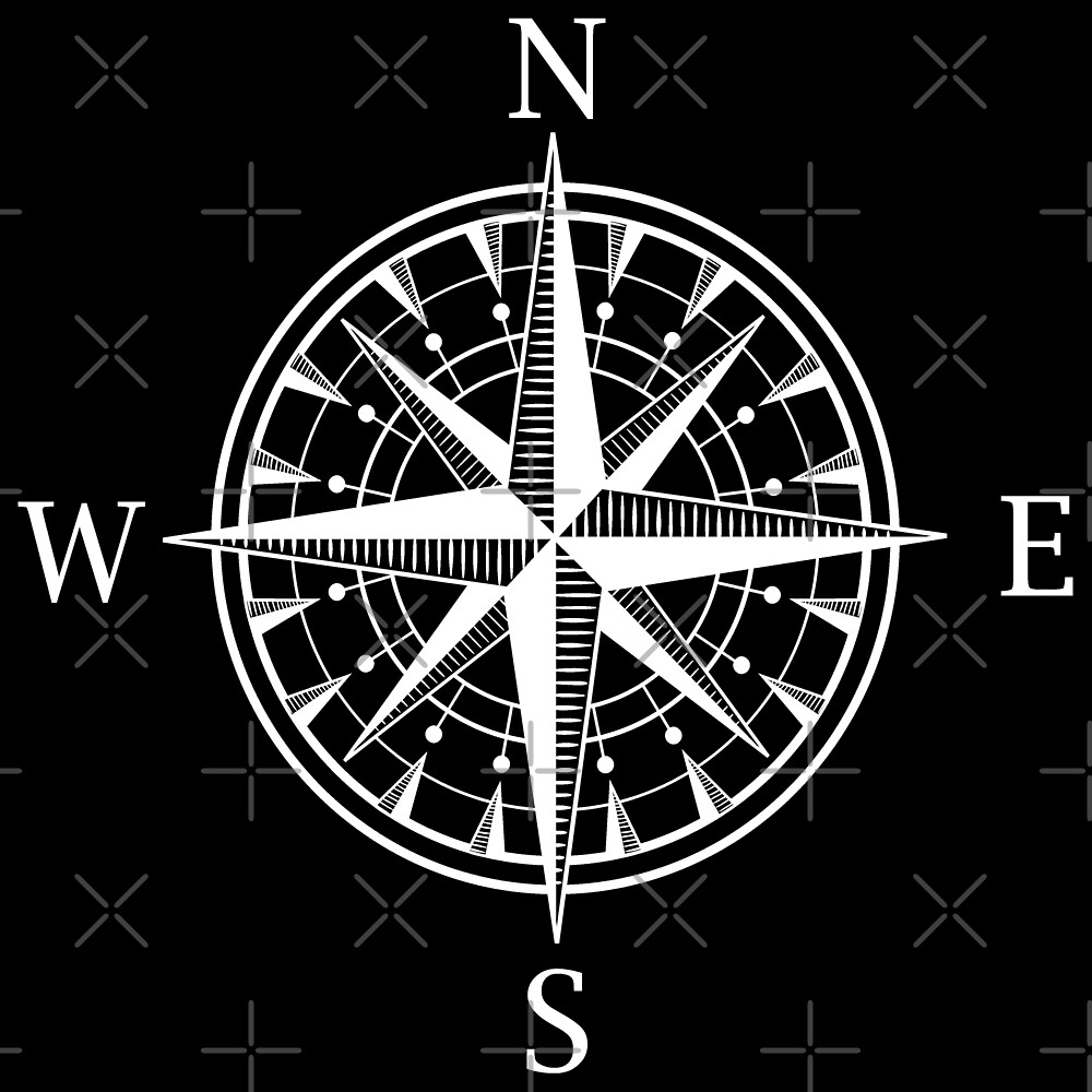 Compass wind rose travel gift idea by PhrasesTheThird