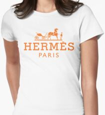 Hermes shirt logo Women's Fitted T-Shirt