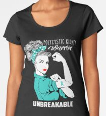 Polycystic Kidney Warrior Unbreakable Awareness Women's Premium T-Shirt