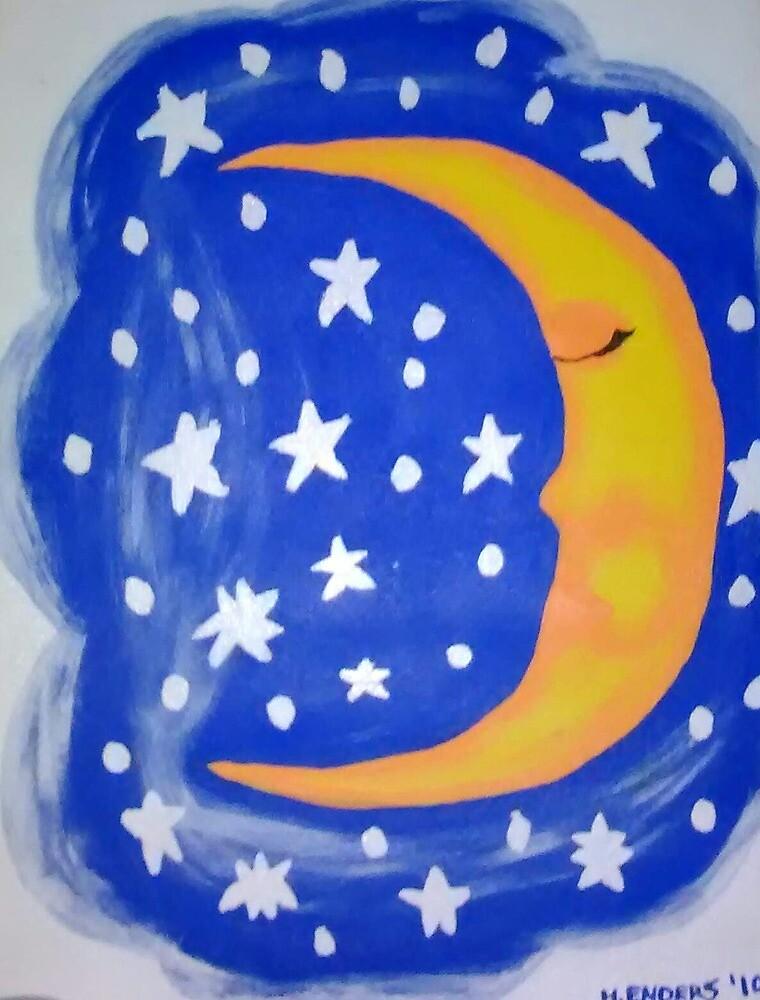 Sleepy moon by AuraStarz13