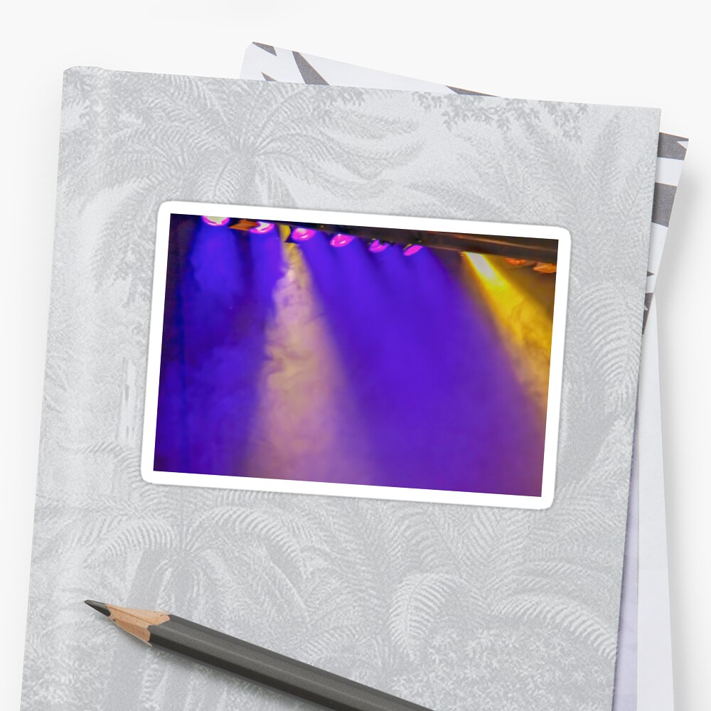 Coloured stage lights and smoke as a vivid colour background by PhotoStock-Isra