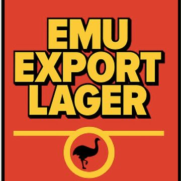 Emu Export Lager Retro Style by Jtunes84