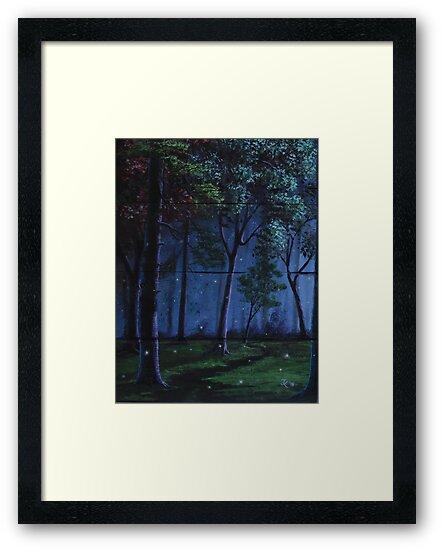 Summer Forest Lights by John Kenward