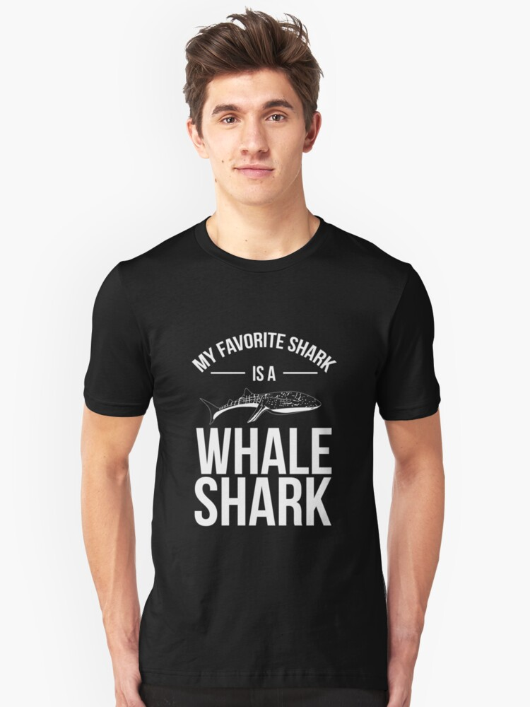 My Favorite Shark is a Whale Shark Ocean Tshirt Unisex T-Shirt Front