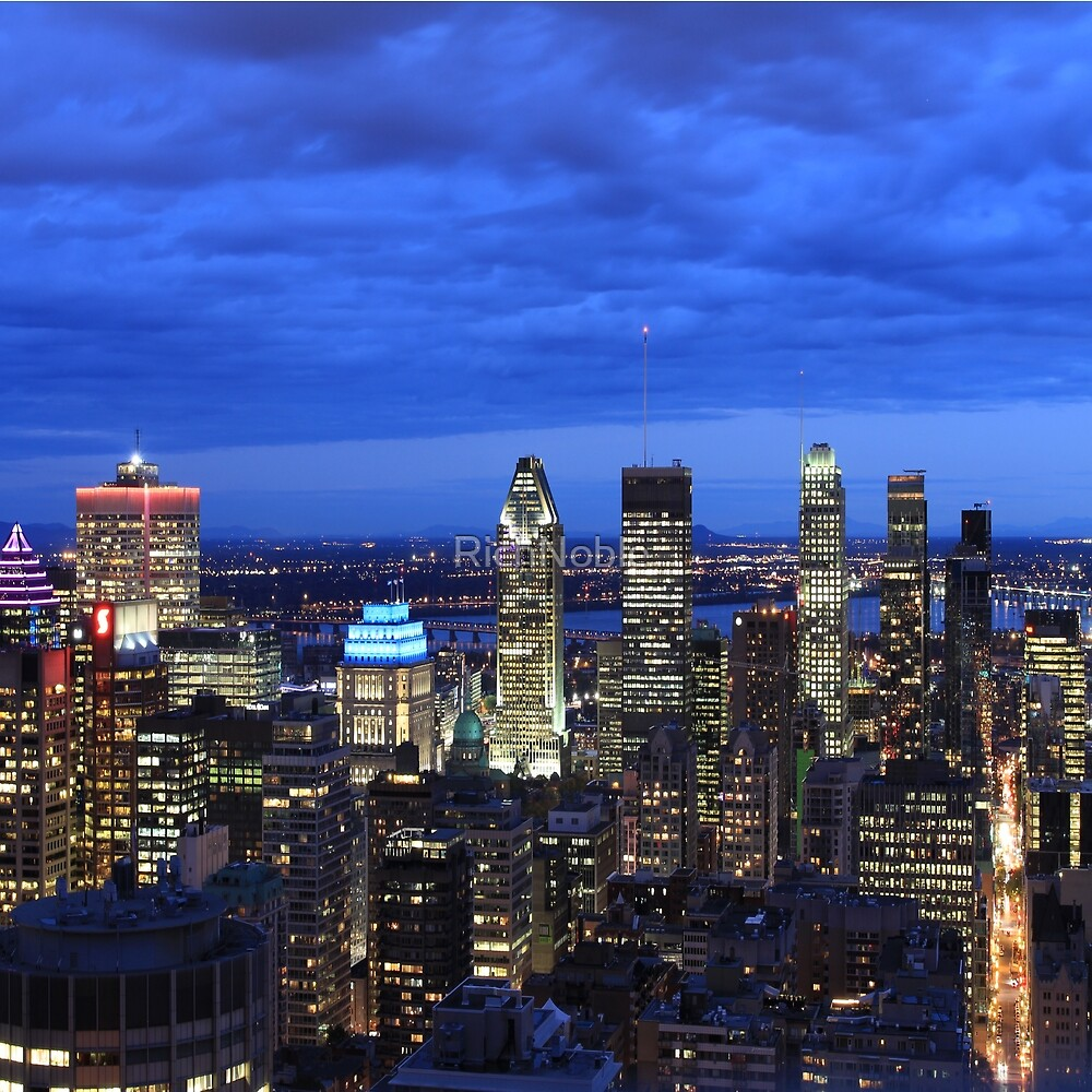 Montreal Montreal skyline at night by RichNoble
