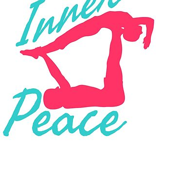 Lovely and Relaxing Acro Yoga Tshirt Design Inner Peace by Customdesign200