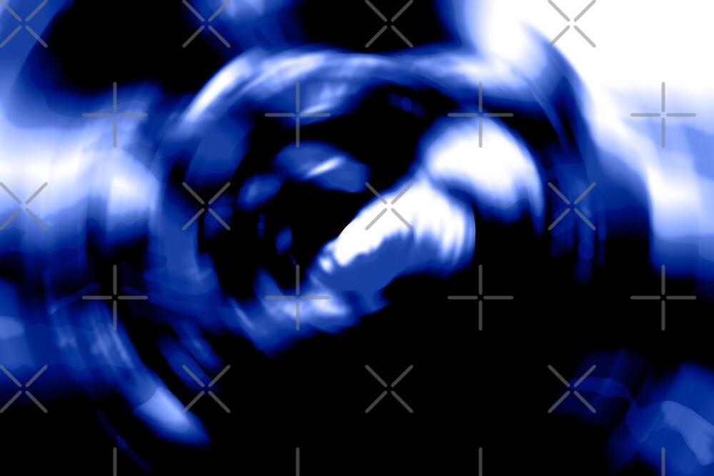 Swirly Black and Blue by joyloveyarn