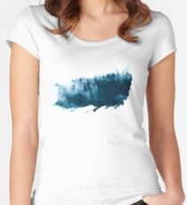 Forest in the fog Women's Fitted Scoop T-Shirt