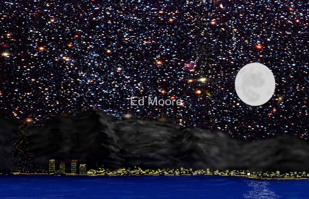 Lake Tahoe at Night by Ed Moore