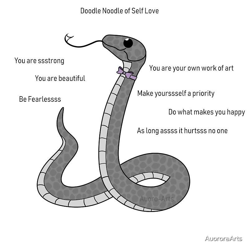 Doodle Noodle:  Self Love  by AuororaArts