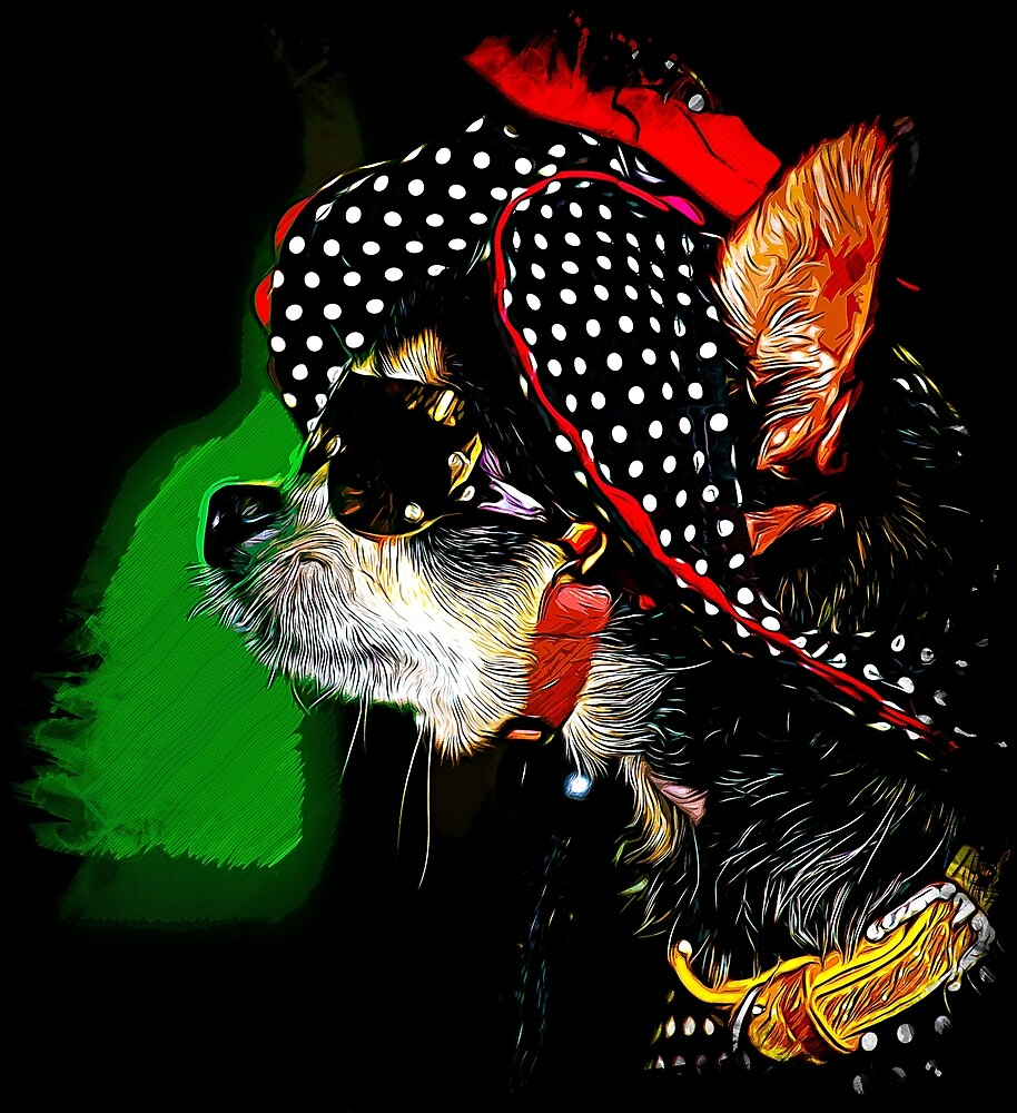 gxp classy chihuahua dog lady vector art by gxp-design